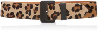Maison Vaincourt Leopard-Print Calf Hair Belt