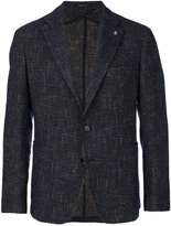 Tagliatore pin detail blazer - men - Cotton/Acrylic/Polyamide/Virgin Wool - 48