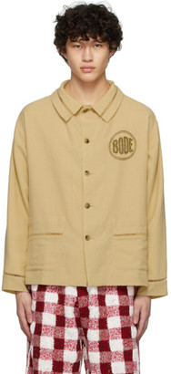 Bode Tan Beaded Workwear Jacket