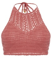 She Made Me Essential halterneck crochet bikini top