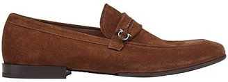 Salvatore Ferragamo Raion Suede Penny Loafers
