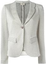 Armani Collezioni houndstooth blazer - women - Polyamide/Spandex/Elastane/Viscose - 48