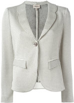 Armani Collezioni houndstooth blazer