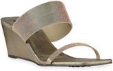Pedro Garcia Inell Iridescent Wedge Slide Sandals