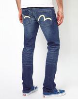 Evisu Jeans Fudo 2011 Slim Fit Ecru Seagull Blue Wash