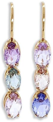 Bayco 18kt Rose Gold Sapphire Drop Earrings