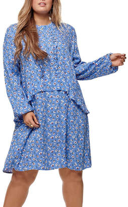Primula Only Carmakoma ONLY Carmakoma Long Sleeve Knee Dress