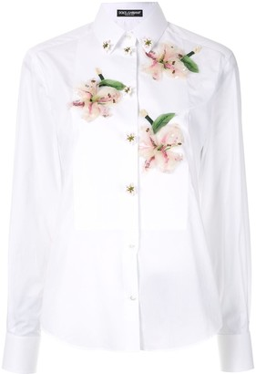 Dolce & Gabbana flower appliqué shirt