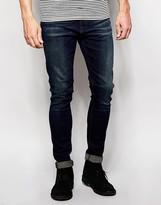 Nudie Jeans Pipe Led Super Skinny Fit Deep Pond Dark Wash - Blue