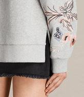 AllSaints Margot Embroidered Sweatshirt