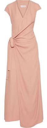 Les Héroïnes The Elizabeth Crepe Maxi Wrap Dress