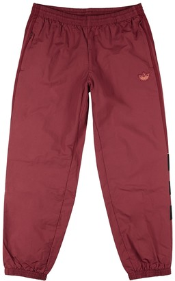 adidas BLNT 96 dark red shell sweatpants