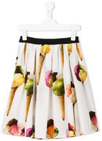Dolce & Gabbana ice-cream print skirt - kids - Cotton - 8 yrs