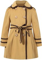 Richie House Girls' Flared Top Coat with Trim RH0936-C-6/7