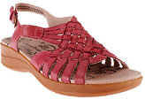Bare Traps BareTraps Leather Woven Sandals w/ Adj. Back Strap - Jabber