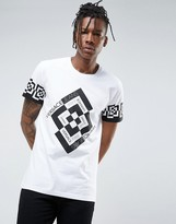 Versace Jeans T-shirt In White With Greek Key Print