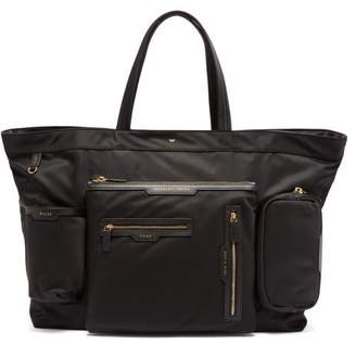 Anya Hindmarch Leather Trim Tote Bag - Womens - Black