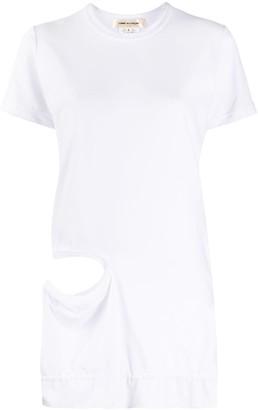 Comme des Garcons cut-out detail T-shirt
