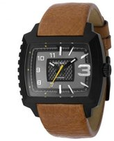 Diesel Men's DZ1349 Brown Leather Quartz Watch with Dial