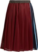 Muveil Mesh pleated skirt