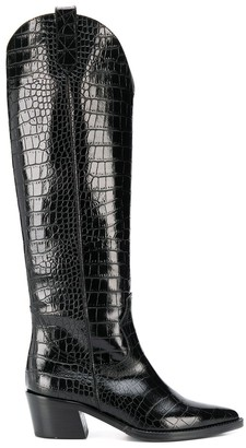 Via Roma 15 embossed cow boy boots