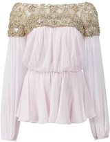 Marchesa embellished blouse