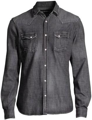 The Kooples Washed Denim Shirt