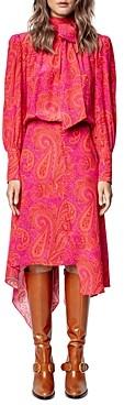 Zadig & Voltaire Rire Paisley Print Silk Dress
