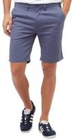 Bellfield Mens Slub Oxford Smart Shorts Washed Blue