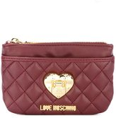 Love Moschino heart plaque purse