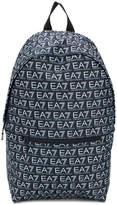 Ea7 Emporio Armani logo print backpack