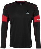 Salomon Agile Sports Shirt Black/matadorx/dark Cloud