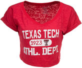 Blue 84 Women's Texas Tech Red Raiders Safe Burnout Cropped Top