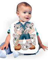Just Add A Kid Baby Boy's Koala Kid 680 Baby Bib 0-6 Months
