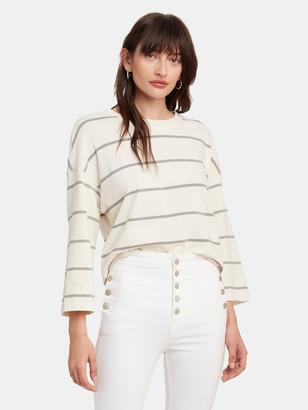 ATM Anthony Thomas Melillo Plaited Jersey Stripe Sweatshirt