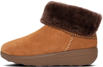 FitFlop Mukluk Shorty Shearling-Lined Suede Ankle Boots