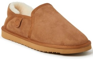Dearfoams Fireside by Dearfoam Men's Hobart Genuine Shearling Closed Back Slippers Men's Shoes