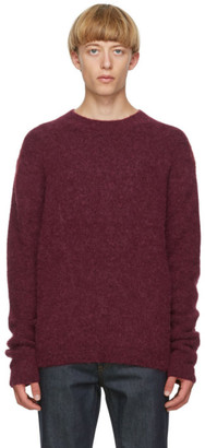 Acne Studios Burgundy Wool and Alpaca Sweater