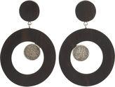 Lucia Odescalchi Wenge Wood Earrings