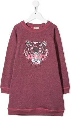 Kenzo Kids Tiger Logo Sweatshirt Dress