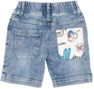 Little Marc Jacobs Stretch Cotton Denim Effect Shorts