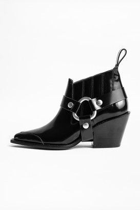 Zadig & Voltaire N'Dricks Glossy Ankle Boots
