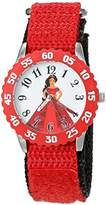 Disney Girl's 'Elena of Avalor' Quartz Stainless Steel and Nylon Watch, Color:Red (Model: W003044)