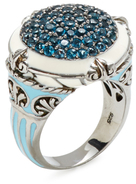 Rina Limor Fine Jewelry London Blue Topaz Round Cocktail Ring