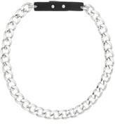 Steve Madden Link Leather Detail Necklace