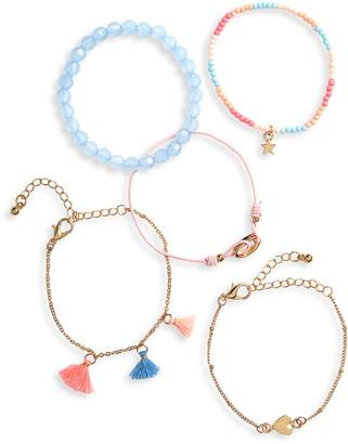 Capelli New York 5-Pack Assorted Bracelets