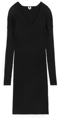 Arket Rib Knit Dress