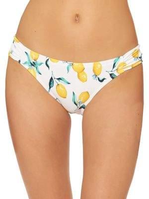 Jessica Simpson Lemon-Print Bikini Bottom