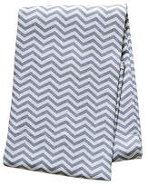 Trend Lab 48'' x 48'' Gray Chevron Flannel Swaddle Blanket