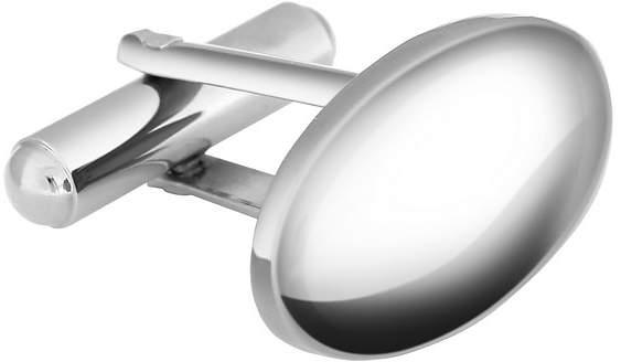Forzieri Oval Silver Plated Classic Cufflinks
